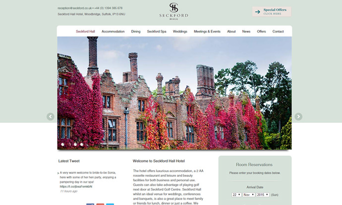 Seckford Hall Hotel